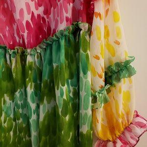 Dresses - Colorful designer plus size mini dress
